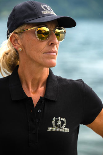 "SPORT LINE WOMEN'S POLO SHIRT ""BLACK"""
