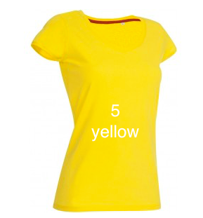 "ELEGANT LINE WOMEN'S  V-NECK T-SHIRT ""YELLOW"""