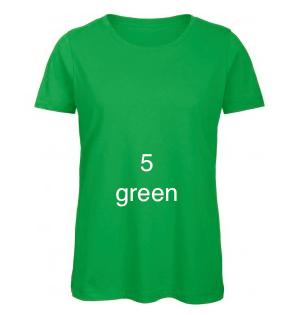 "GLAMOROUS LINE WOMEN'S U-NECK T-SHIRT ""GREEN"""