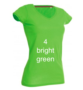 "GLAM FASHION LINE WOMEN'S V-NECK T-SHIRT ""BRIGHT GREEN"""