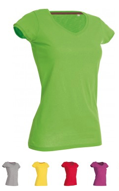 "EXCLUSIVE LINE WOMEN'S ""SWAROVSKI HEART"" V-NECK T-SHIRT Verfügbare Farben / available colors"