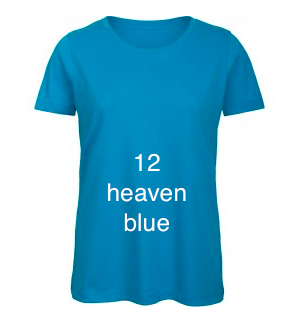 "EXCLUSIVE LINE WOMEN'S ""SWAROVSKI HEART"" U-NECK T-SHIRT ""HEAVEN BLUE"""