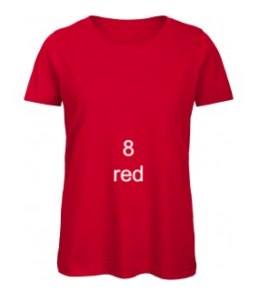 "EXCLUSIVE LINE WOMEN'S ""KISS MIAMI"" U-NECK T-SHIRT ""RED"""