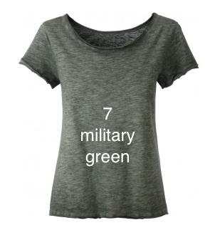 "EXCLUSIVE LINE WOMEN'S ""KISS MIAMI"" FANCY SHIRT ""MILITARY GREEN"""