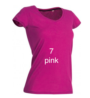 "EXCLUSIVE LINE WOMEN'S ""KISS MIAMI"" V-NECK T-SHIRT ""PINK"""