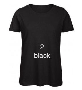 "EXCLUSIVE LINE WOMEN'S ""BELIEVE IN LOVE"" U-NECK T-SHIRT ""BLACK"""
