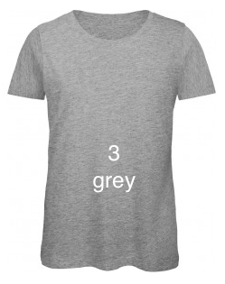 "EXCLUSIVE LINE WOMEN'S ""BELIEVE IN LOVE"" U-NECK T-SHIRT ""GREY"""