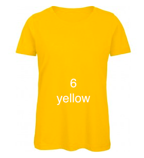 "EXCLUSIVE LINE WOMEN'S ""BELIEVE IN LOVE"" U-NECK T-SHIRT ""YELLOW"""