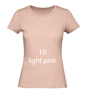 "EXCLUSIVE LINE WOMEN'S ""BELIEVE IN LOVE"" U-NECK T-SHIRT ""LIGHT PINK"""
