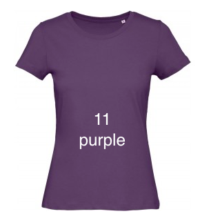 "EXCLUSIVE LINE WOMEN'S ""BELIEVE IN LOVE"" U-NECK T-SHIRT ""PURPLE"""