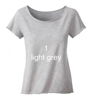 "EXCLUSIVE LINE WOMEN'S ""BELIEVE IN LOVE"" FANCY SHIRT ""LIGHT GREY"""