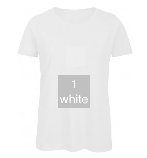 "EXCLUSIVE LINE WOMEN'S ""SWAROVSKI PEACE"" U-NECK T-SHIRT ""WHITE"""