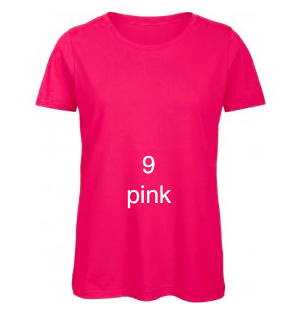 "EXCLUSIVE LINE WOMEN'S ""SWAROVSKI PEACE"" U-NECK T-SHIRT ""PINK"""