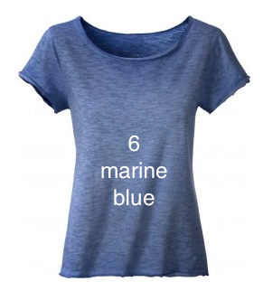 "EXCLUSIVE LINE WOMEN'S ""SWAROVSKI PEACE"" FANCY SHIRT ""MARINE BLUE"""