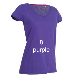 "EXCLUSIVE LINE WOMEN'S ""SWAROVSKI PEACE"" V-NECK T-SHIRT ""PURPLE"""