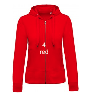 "WOMEN'S HOODIE ELEGANCE EDITION - GIANT LINE ""RED"""