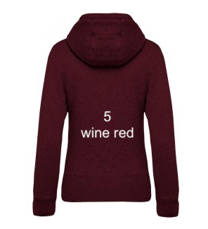 "WOMEN'S HOODIE ELEGANCE EDITION - GIANT LINE ""WINE RED"""