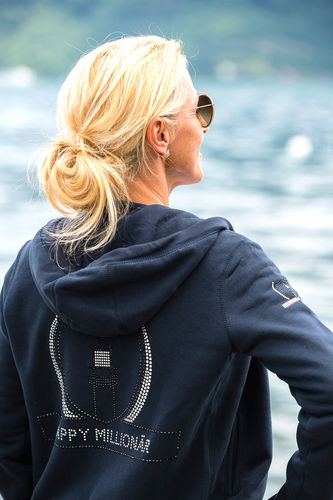 "WOMEN'S HOODIE ELEGANCE EDITION - GIANT LINE ""NAVY BLUE"""