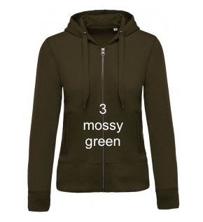 "WOMEN'S HOODIE ELEGANCE EDITION - GIANT LINE ""MOSSY GREEN"""