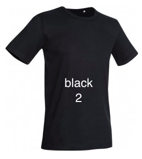 "GLAMOROUS LINE MEN'S  U-NECK T-SHIRT  ""BLACK"""