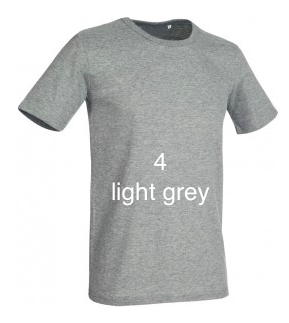 "GLAMOROUS LINE MEN'S  U-NECK T-SHIRT  ""LIGHT GREY"""
