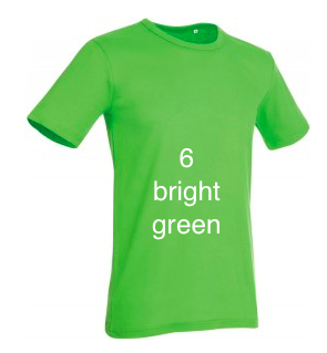"GLAMOROUS LINE MEN'S  U-NECK T-SHIRT  ""BRIGHT GREEN"""