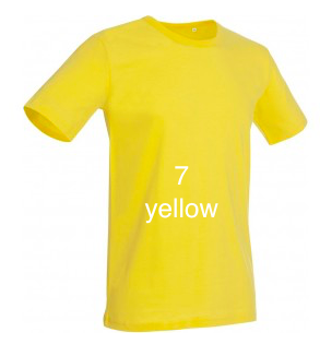 "GLAMOROUS LINE MEN'S  U-NECK T-SHIRT  ""YELLOW"""