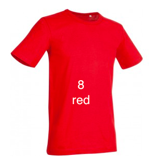 "GLAMOROUS LINE MEN'S  U-NECK T-SHIRT  ""RED"""