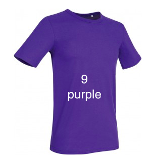 "GLAMOROUS LINE MEN'S  U-NECK T-SHIRT  ""PURPLE"""