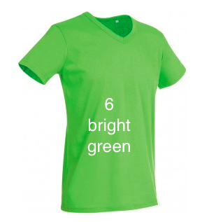"GIANT LINE MEN'S V-NECK T-SHIRT  ""BRIGHT GREEN"""