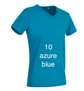 "GIANT LINE MEN'S V-NECK T-SHIRT  ""AZURE BLUE"""