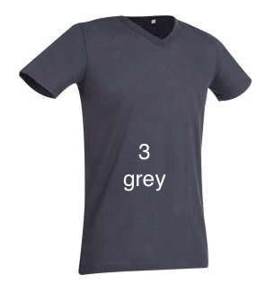 "ELEGANT LINE MEN'S V-NECK T-SHIRT ""GREY"""