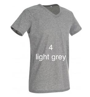 "ELEGANT LINE MEN'S V-NECK T-SHIRT ""LIGHT GREY"""