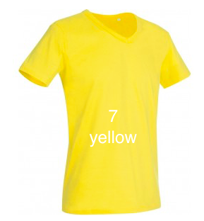 "ELEGANT LINE MEN'S V-NECK T-SHIRT ""YELLOW"""