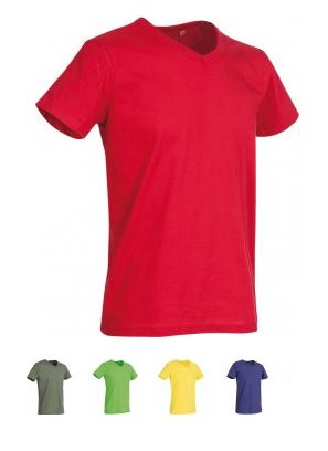 ELEGANT LINE MEN'S V-NECK T-SHIRT Verfügbare Farben / available colors