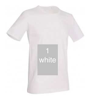 "ELEGANT LINE MEN'S U-NECK T-SHIRT ""WHITE"""