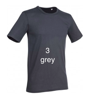 "ELEGANT LINE MEN'S U-NECK T-SHIRT ""GREY"""