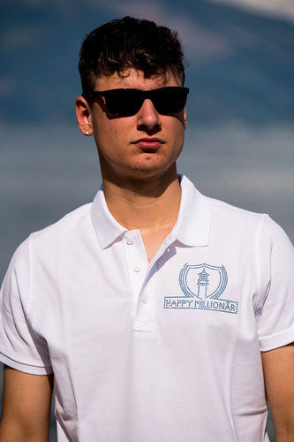 "ELEGANT LINE MEN'S POLO SHIRT ""WHITE"""