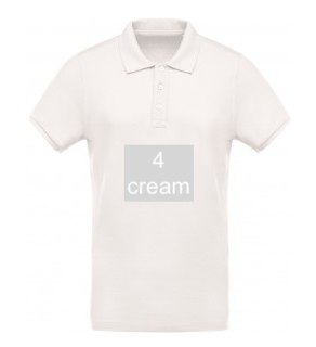 "ELEGANT LINE MEN'S POLO SHIRT ""CREAM"""