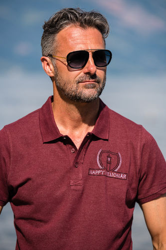 "ELEGANT LINE MEN'S POLO SHIRT ""BURGUNDY"""