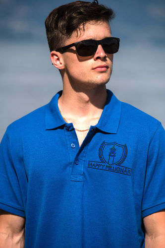 "ELEGANT LINE MEN'S POLO SHIRT ""OCEAN BLUE"""