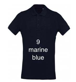 "ELEGANT LINE MEN'S POLO SHIRT ""MARINE BLUE"""