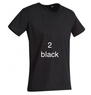 "GLAMOROUS LINE MEN'S  V-NECK T-SHIRT  ""BLACK"""