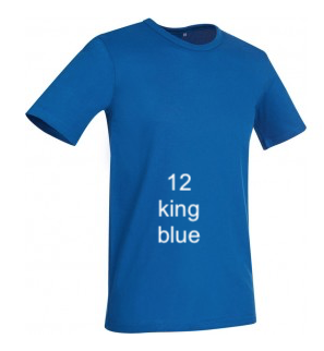 "EXCLUSIVE LINE MEN'S ""I AM THE KING"" U-NECK T-SHIRT ""KING BLUE"""