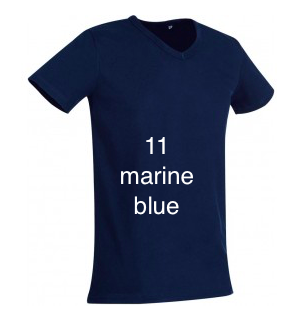 "EXCLUSIVE LINE MEN'S ""WHAT'S UP?""V-NECK T-SHIRT ""MARINE BLUE"""