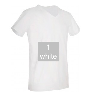 "EXCLUSIVE LINE MEN'S ""WHAT'S UP?"" V-NECK T-SHIRT ""WHITE"""
