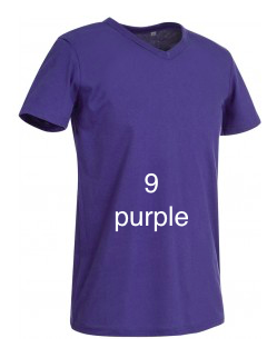 "EXCLUSIVE LINE MEN'S ""WHAT'S UP?"" V-NECK T-SHIRT ""PURPLE"""