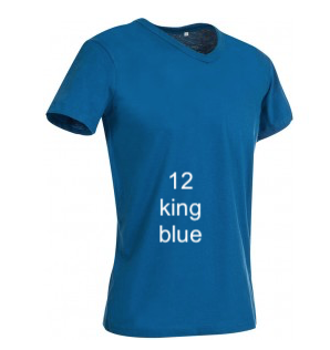 "EXCLUSIVE LINE MEN'S ""WHAT'S UP?"" V-NECK T-SHIRT ""KING BLUE"""