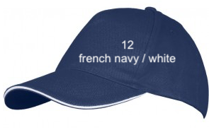 "CAP SPORT LINE - Unisex ""FRENCH NAVY / WHITE"""
